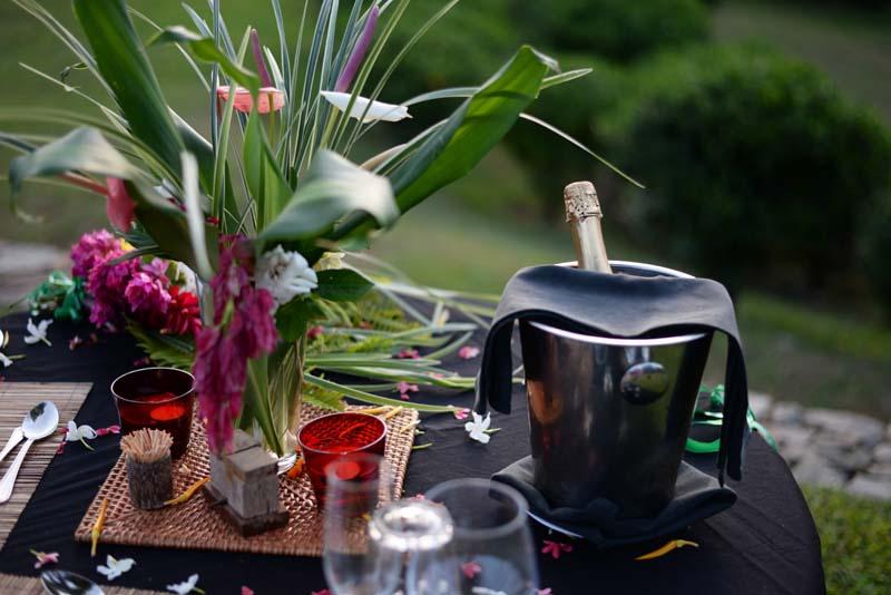 Champagne Dinner for Honeymooners