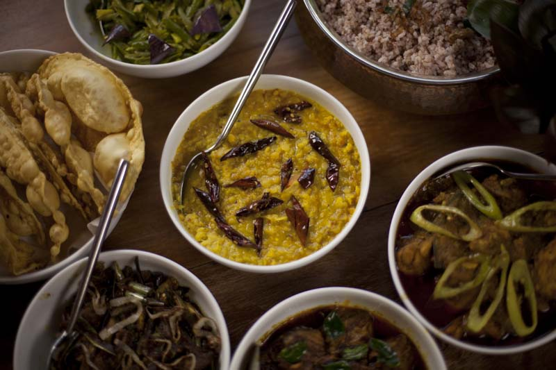 Traditional Sri Lankan Rice and Curry